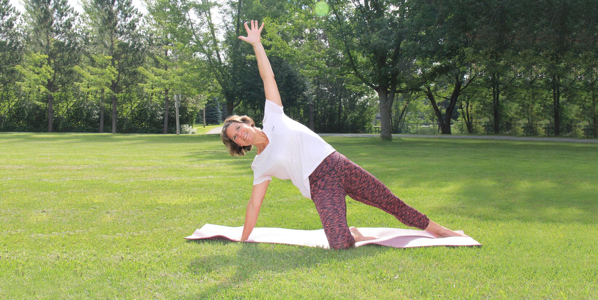 espace pleine forme yoga extérieur