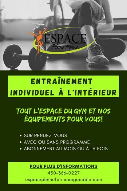 gym ouvert pour entrainement libre